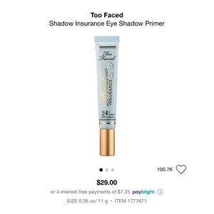 TOO FACED - Shadow Insurance Eye Shadow Primer